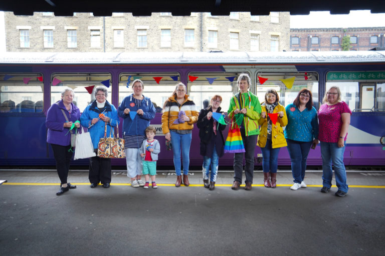 Knit and Natter train participants