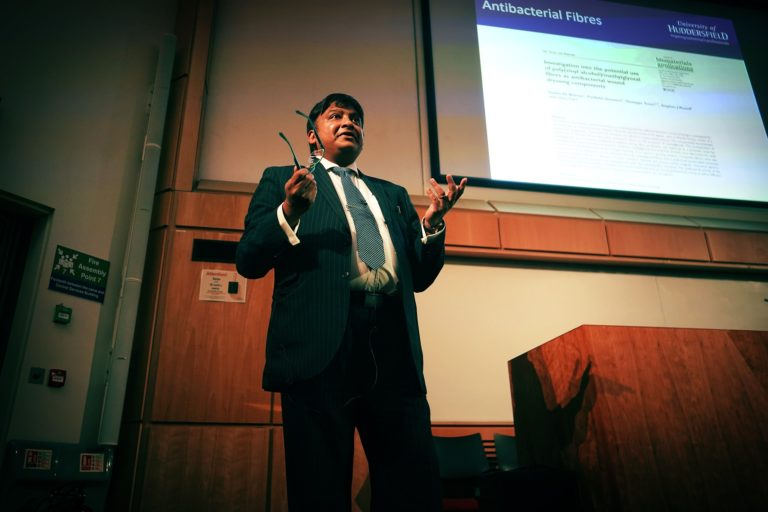 Parik Goswami talks to students as part of Science and Innovation Spectacular